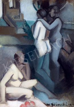 Jičinská, Vera - Three Nudes in the Studio (1922)
