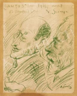 Rippl-Rónai József - Dr. Molnár Géza és Szinyei Merse Pál a