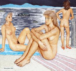 Czene, Béla jr. - Three Nudes on the Beach