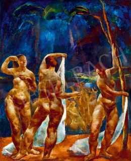 Aba-Novák, Vilmos - Bathing Women (Female Nudes)