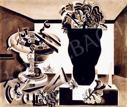Hincz Gyula - Art deco csendélet vázával