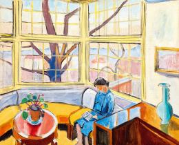 Fenyő György - Bauhaus ház télikertje Gorka vázával (Olvasó nő)