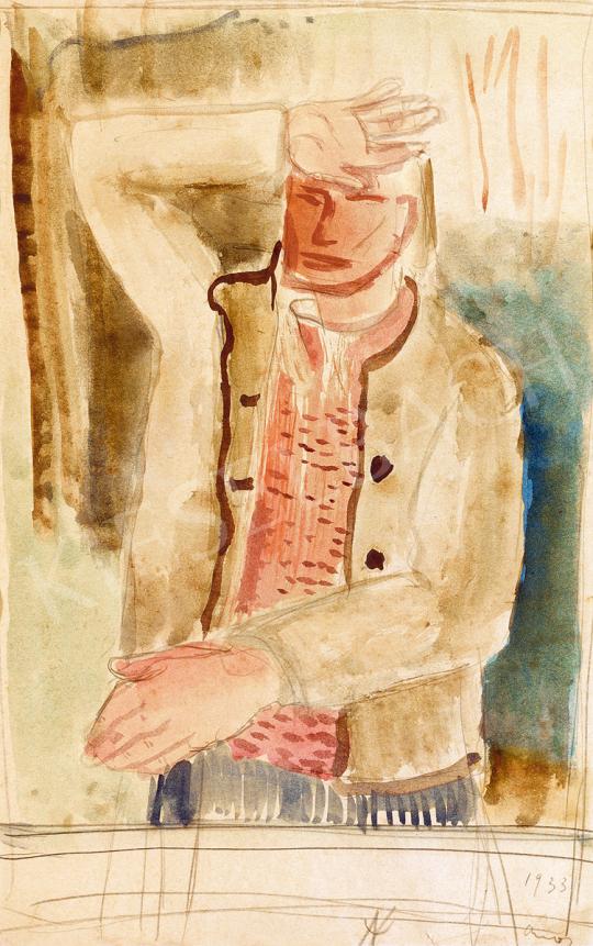 Ámos, Imre - Self-Portrait | 51st Winter Sale auction / 132 Item