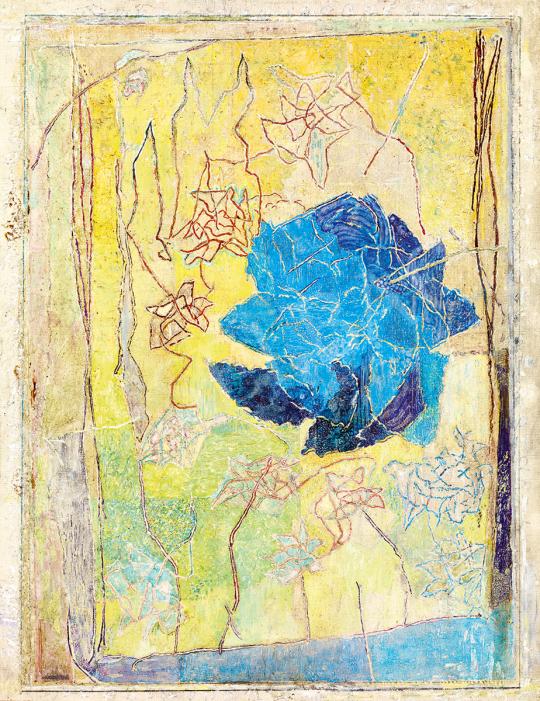 Gedő, Ilka - Rose-Garden in Yellow Background   51st Winter Sale auction / 157 Item