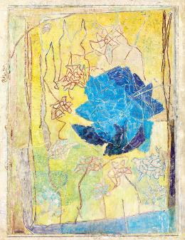 Gedő Ilka - Sárga hátterű rózsakert