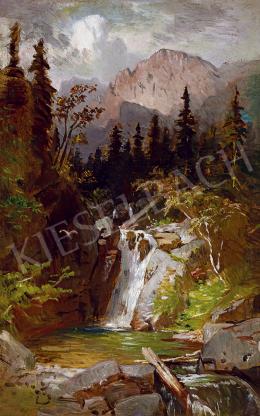 Molnár, József - Waterfall in the Tatras