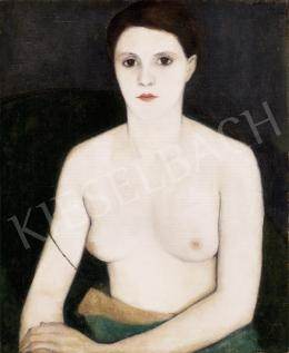 Basch, Edit - Nude in a Green Armchair