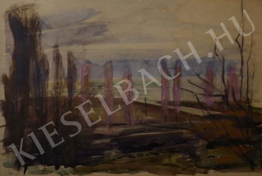 Hincz Gyula - Őszi Balaton festménye