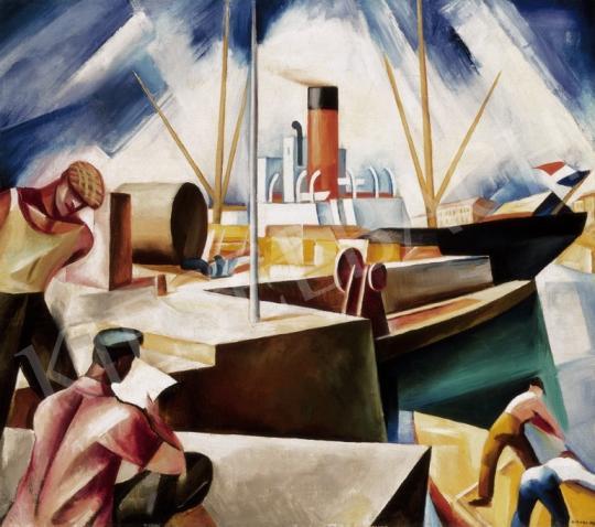 Gábor Jenő - Kikötő (Le Havre-i kikötő) | 24. Aukció aukció / 27 tétel