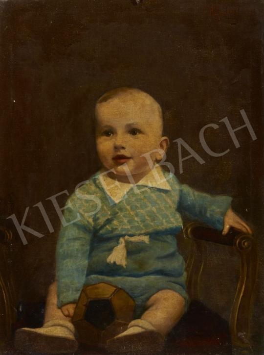 Eladó Ismeretlen festő - Az ifjú futballista festménye