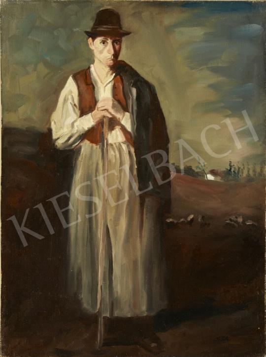 Eladó Szüle Péter - Kalapos legény festménye