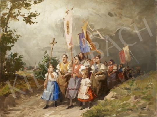 Eladó Gyertyáni Németh Gyula - Körmenet festménye