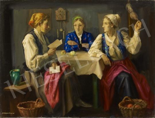 Eladó Krusnyák Károly - Asztalnál festménye