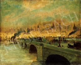 Berkes, Antal - The Banks of the Seine in Paris by Lamplight