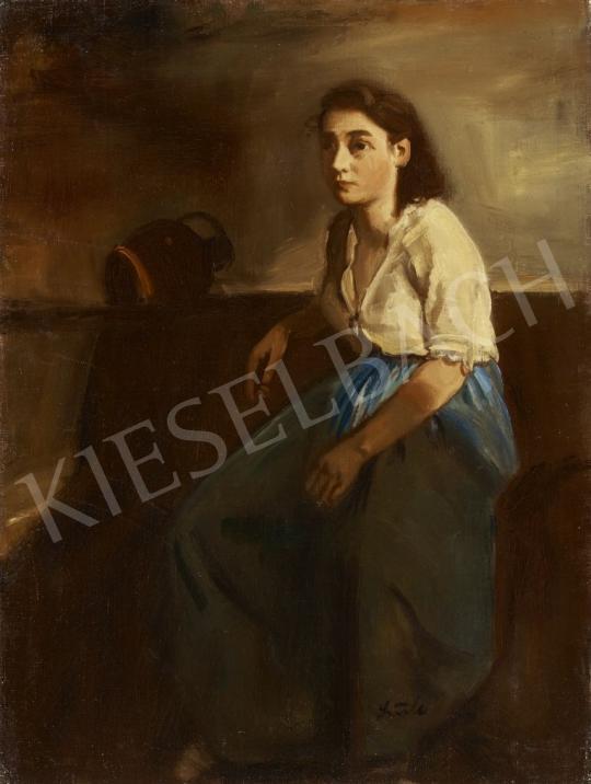 Eladó Szüle Péter - Kislány korsóval festménye