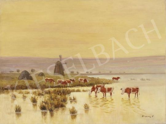 For sale Olgyay, Ferenc - Landscape with a Windmill 's painting