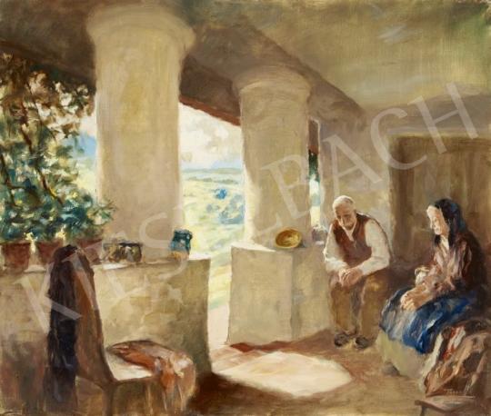 Eladó Péczely Antal - Délutáni pihenő festménye