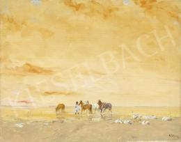 Csillag, József - Lake Balaton with Horses