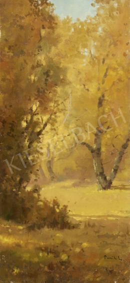 Unknown painter - Autumnal Lights in the Woods, c. 1930