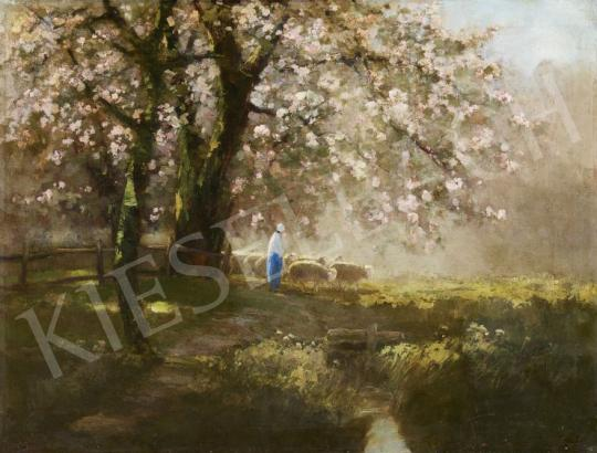 Kézdi-Kovács László - Tavaszi erdőszélen festménye