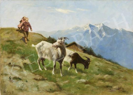 Eladó Halasy Géza - Kecskék festménye