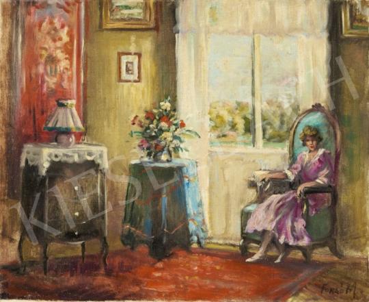 Eladó Forgó Mihály - Szalonban festménye