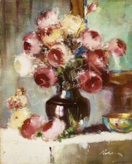 Pirhalla Nándor - Virágcsendélet rózsákkal