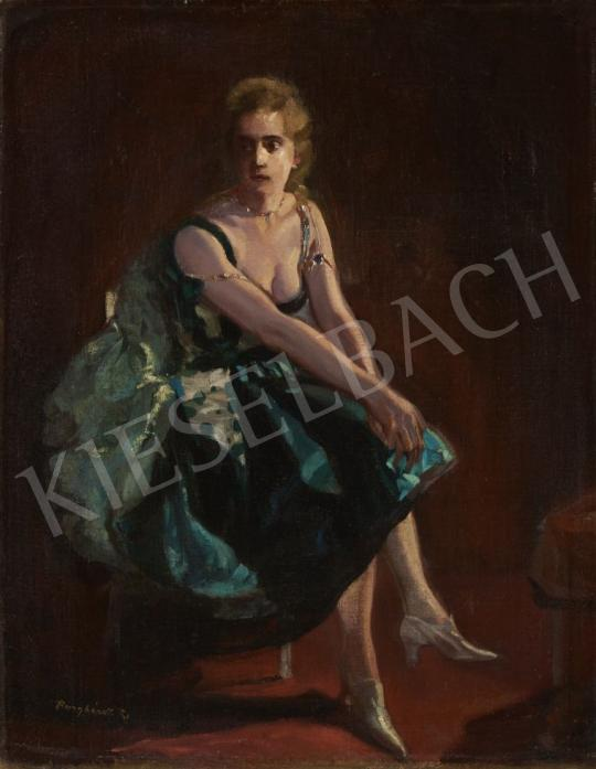Eladó Burghardt Rezső - Táncosnő festménye