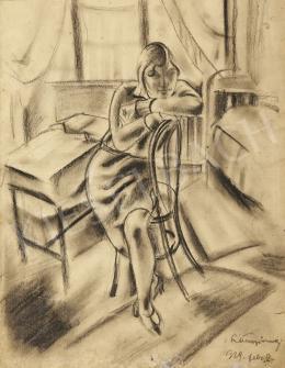 Ismeretlen festő - Lány szobában