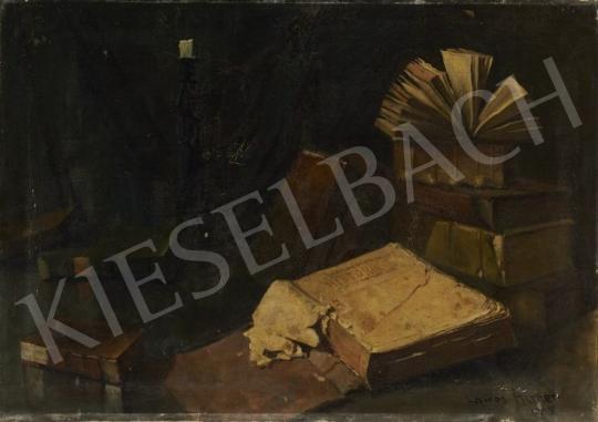 Eladó Lakos Alfréd - Csendélet könyvekkel festménye