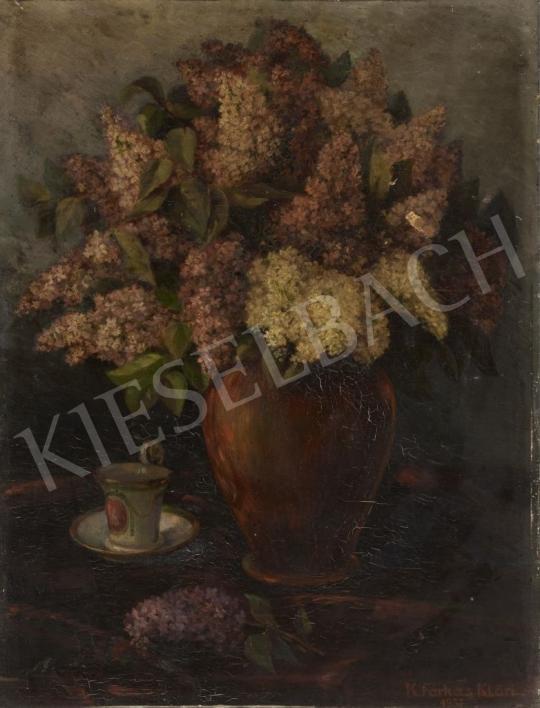 For sale Farkas, Klára (Boldogfai) - Still Life with Lilac 's painting