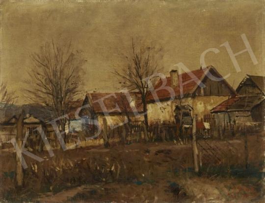 Eladó Erdélyi-Gaál Ferenc - Őszi udvar festménye