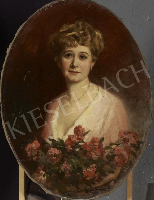 Eladó  Lengyel-Reinfuss Ede - Hölgy rózsákkal festménye