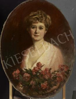 Lengyel-Rheinfuss, Ede - Lady with Roses