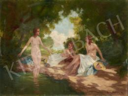 Brettschneider, Rudolf - Bathers on the Brookside