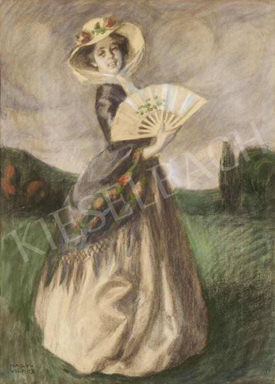 For sale  Nagy, Vilmos - Woman with a Fan 's painting