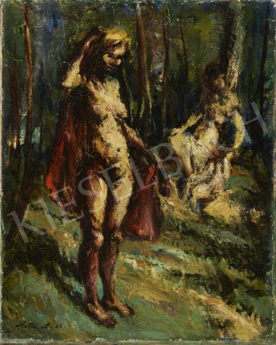 Eladó  Holló László - Aktok szabadban festménye