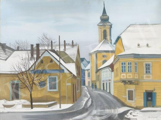 Eladó Mácsai István - Szentendre festménye