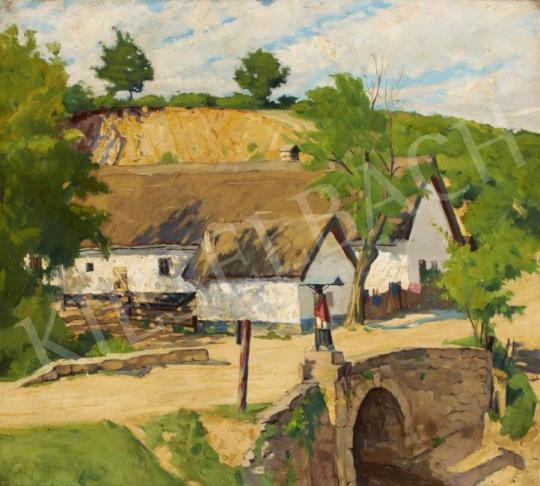 Eladó Kóbor Henrik - Falusi részlet festménye
