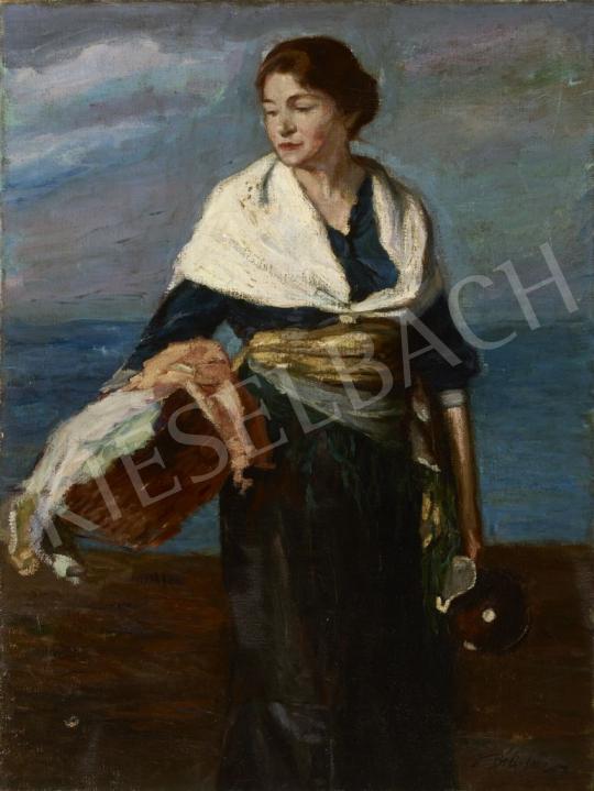 Béli Vörös Ernő - Vízparton, 1920-as évek festménye