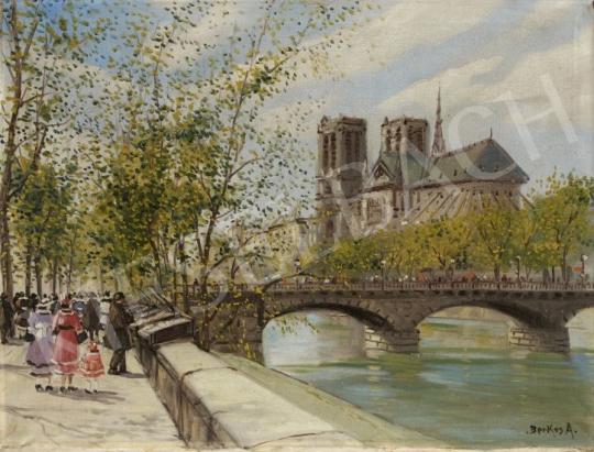 Berkes Antal - A Szajna és a párizsi Notre Dame festménye