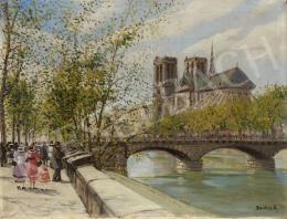 Berkes Antal - A Szajna és a párizsi Notre Dame