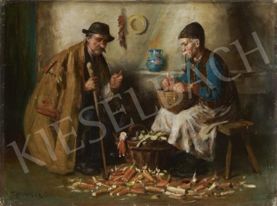 Eladó  Horváth G. Andor - Beszélgetés festménye