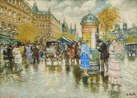 Eladó  Berkes Antal - Városi délután festménye