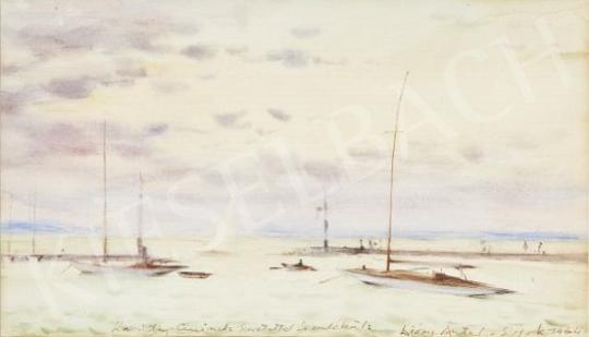 Diósy, Antal (Dióssy Antal) - Gulf of Lake Balaton painting