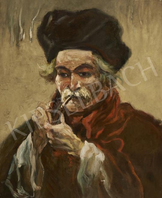 Eladó  Scheiber Hugó - Pipázó férfi festménye