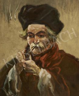 Scheiber Hugó - Pipázó férfi (1920 körül)