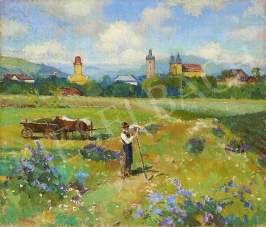 Balla Béla - Nagybányai táj festménye