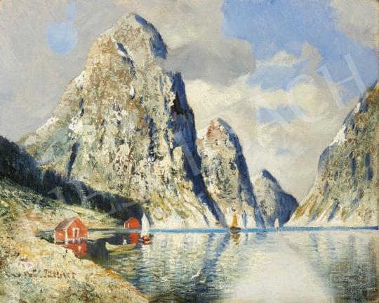 For sale  Signed Jüttner - Fjord 's painting