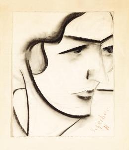 Scheiber Hugó - Hullámos hajú lány, 1920-as évek